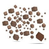 3D Cube  with clipping path. Royalty Free Stock Image