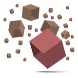 3D Cube   with clipping path. Stock Photo