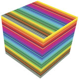 3D cube color guide. Guide for prepress and printing business or decorative poster Royalty Free Stock Photography