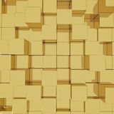3D cube golden background Royalty Free Stock Photos