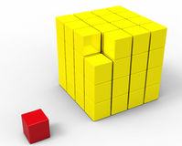 3d cube isolated on white Stock Photography
