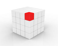 3d cube isolated on white Royalty Free Stock Photo