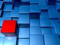 3d cube le fond Photo libre de droits