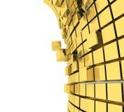 3D cube le fond Photo stock