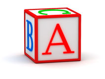 3D cube with letter A Royalty Free Stock Photography