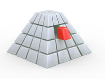 3d cube pyramid Stock Photo