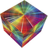 3D cube in rainbow colors. Guide for prepress and printing business or decoration Stock Images