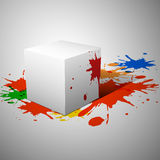 3D cube. Vector illustration. Stock Photos