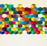 3d Cube Wall. Abstract 3d Cube Wall of different colored blocks vector illustration