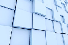 3d cube wall. On white background Stock Photo