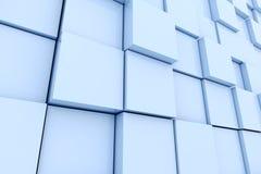 3d cube wall Stock Photo
