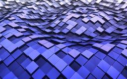 3d cubes волны Стоковое Изображение