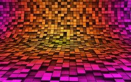 3d cubes волны Стоковые Фото