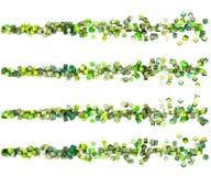 3d cubes зеленые множественные шнуры Стоковое фото RF