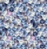 3d cubes картина безшовная Стоковое Фото