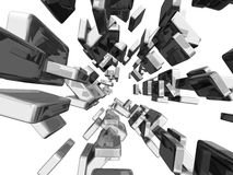 3d cubes лоснистый свет иллюстрация штока