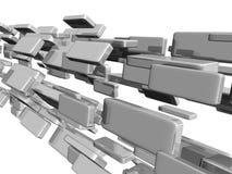 3d cubes лоснистый свет Стоковые Изображения