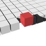 3d cubes различный элемент Стоковая Фотография RF