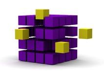 3d cubes рационализаторство Стоковая Фотография RF