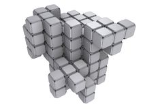 3d cubes Royalty Free Stock Image