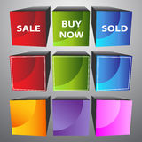 3D Cubes. An image of 3D cubes Royalty Free Stock Image