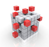 3d cubes. Concept of construction Stock Images