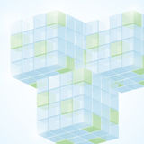 3d cubes. Vector illustration of 3d cubes Stock Photo
