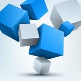 3d cubes. Vector illustration of 3d cubes Stock Image