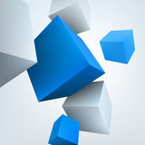 3d cubes. Vector illustration of 3d cubes Royalty Free Stock Photo