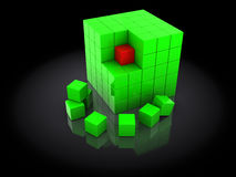 3d cubes. Abstract 3d illustration of cubes construction Stock Photos