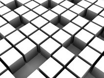 3d cubes. 3d rendered illustration of white cubes Stock Photos