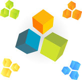 3d cubes. Set. vector only royalty free illustration
