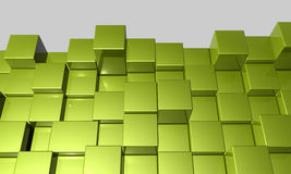 3d cubes background. Background study of 3d cubes Stock Photos