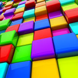 3D cubes background. Multicolor 3D cubes abstract background Royalty Free Stock Image