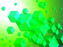 3D Cubes on Colorful Abstract Background Royalty Free Stock Photos