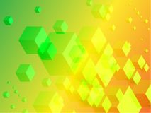 3D Cubes on Colorful Abstract Background Royalty Free Stock Images