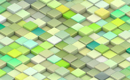 3d cubes in different shades of green Royalty Free Stock Photography
