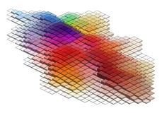 3d cubes, fond de vecteur Image stock