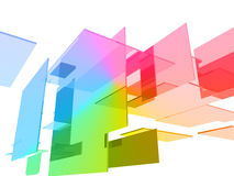 3d cubes with glossy light Royalty Free Stock Photo