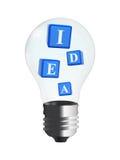 3d cubes - idée dans l'ampoule Photographie stock libre de droits