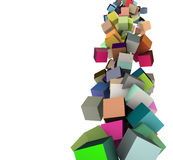 3d cubes in multiple rainbow colors Stock Photos