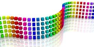 3D cubes - onde colorée 06 Photos libres de droits