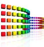 3D cubes - onde colorée 08 Image stock