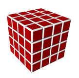 3d cubes in red and isolated on a white background Stock Photography