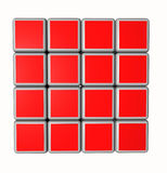 3d cubes in red and isolated on a white background Royalty Free Stock Images