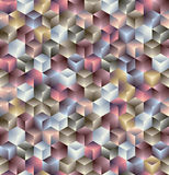 3d cubes seamless pattern. Royalty Free Stock Photo
