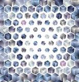 3d cubes seamless pattern. Royalty Free Stock Photos