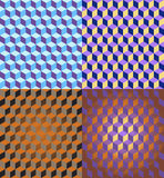 3D Cubes Seamless Patterns Royalty Free Stock Images