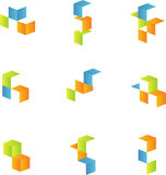 3d cubes set 2. 3d cubes set. vector only royalty free illustration