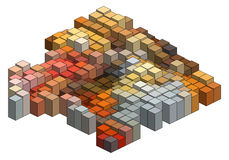 3d cubes, vector background. Colorful 3D cubes, abstract vector background royalty free illustration